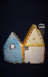 une maison bleu